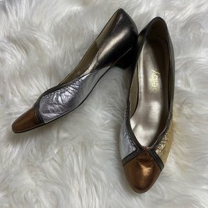 SELBY • Vintage Metallic Color Block Loafer Flats